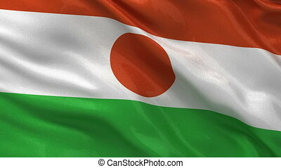Flag of Niger seamless loop