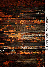 Obsolete painted planks - Obsolete weathered cracked painted...