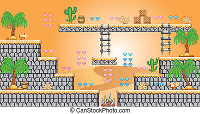 2D Tileset Platform Game 43 - Tile set Platform for Game - A...