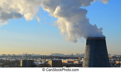 MOSCOW, RUSSIA pipe heating systems timlapse