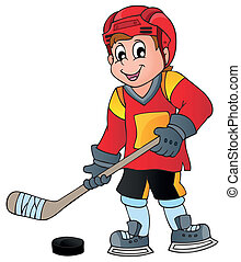 Hockey theme image 1 - eps10 vector illustration.