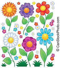 Cartoon flowers collection 3 - eps10 vector illustration.