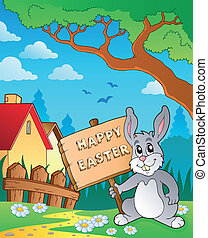 Easter bunny topic image 6 - eps10 vector illustration
