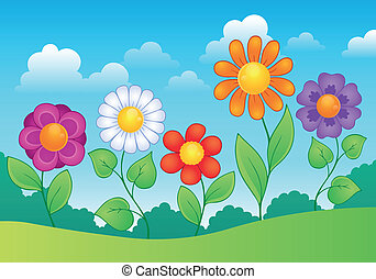 Flower theme image 9 - eps10 vector illustration.