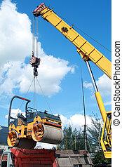 carga, compactador, transporte, máquina, Utilizar,...