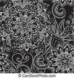 floral ornament - floral pattern in vintage style