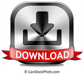 Download button - download button for music, video movie or...