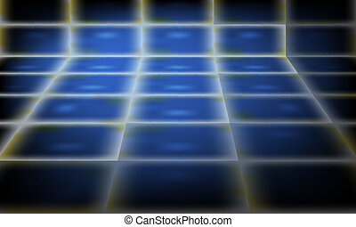 blue abstract vector perspective background