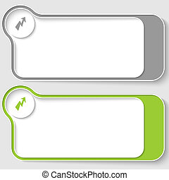 set of two vector text boxes with flash