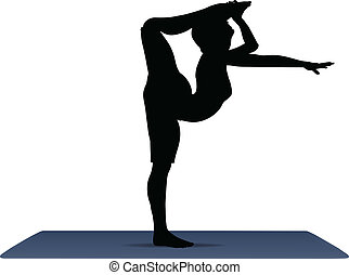 vector illustration of Yoga positions in Shiva Pose - EPS 10...
