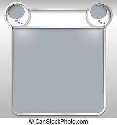 silver abstract text box with two speech bubbles