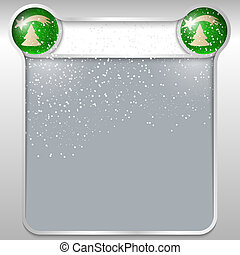 silver abstract text box with a Christmas theme