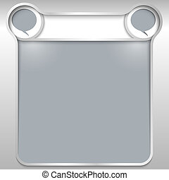 silver abstract text box with speech bubbles