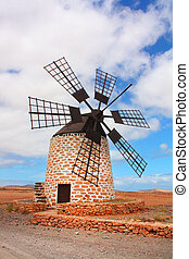 windmill in Fuerteventura, Spain