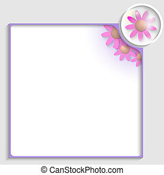 purple box for any text with flowers