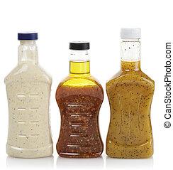 Salad Dressing - Assortment Of Salad Dressing Bottles