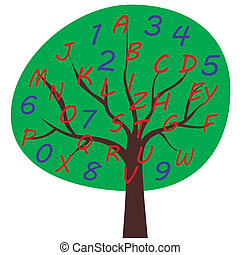 School alphabet tree