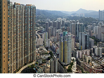 Residential building in Hong Kong - HONG KONG, CHINA - MARCH...