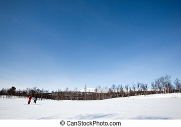 Winter Landscape with Skiiers