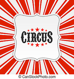 Circus poster, background