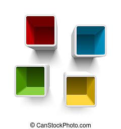 Retro cube shelves