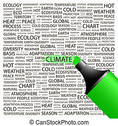 CLIMATE Concept illustration Graphic tag collection...
