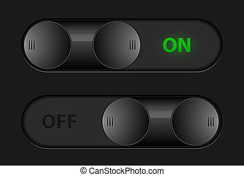 Vector toggle buttons for interface design