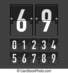 Mechanical timetable numbers