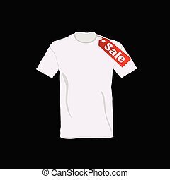 t-shirt on sale color vector