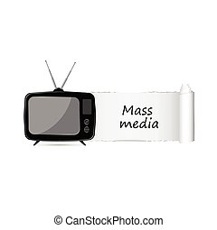 mass media icon vector