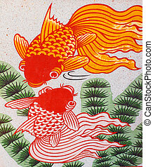 Auspicious double fish symbol for Chinese
