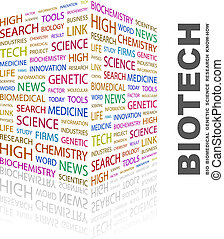 BIOTECH Word cloud illustration Tag cloud concept collage