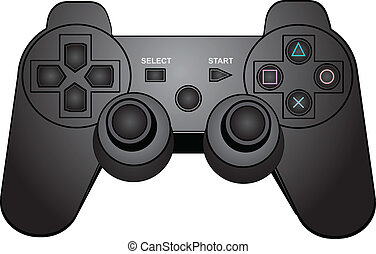 Game pad - Game controller isolated on a white background...