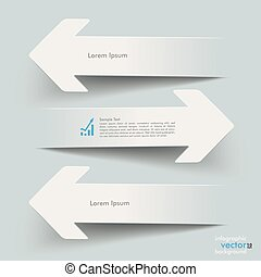 Paper 3 Arrows Opponents - White paper arrows on the grey...