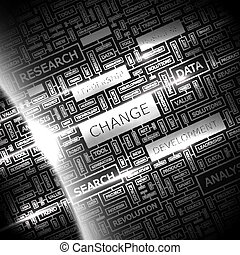 CHANCE Concept illustration Graphic tag collection Wordcloud...