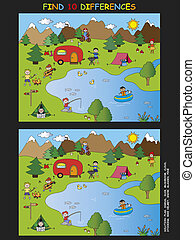 game for children: find the ten differences