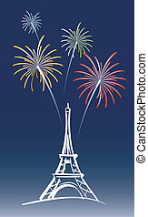 New Year in Paris - illustration for a proposed new years...