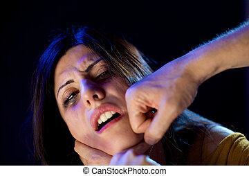 Woman abused and punched in face - Domestic violence and...