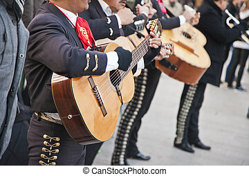 Mariachi spain guitar player