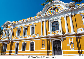 Santa Marta City Hall - Yellow and white historic city hall...