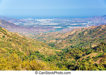 Valley and Santa Marta - Looking down a valley towards Santa...