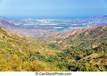 Valley and Santa Marta - Looking down a valley towards Santa...