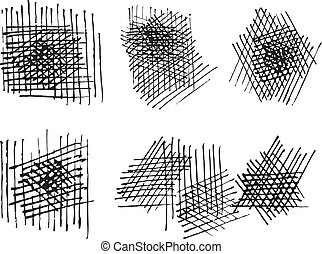 grunge crosshatching textures set. vector eps8 - grunge...