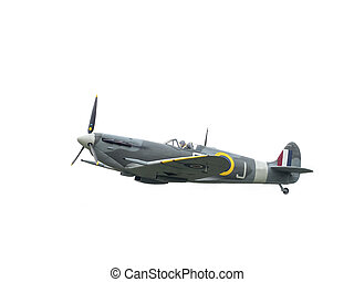 Spitfire airoplane isolated