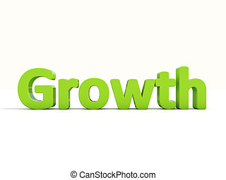 3d word growth - Word growth icon on a white background. 3D...