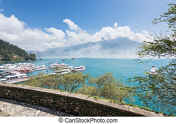 Sun Moon Lake scenery - Landscape of famous attraction, Sun...