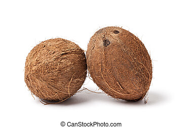 Two Coconuts - Image of two coconuts isolated on white...