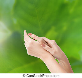 female soft skin hands - body parts, cosmetics and spa...