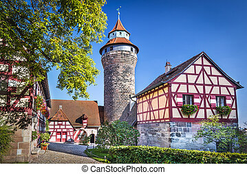 Nuremberg Castle in Nuremberg, Germany