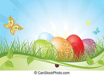 Colorful easter background
